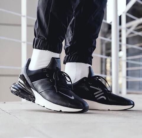 "Nike Air Max 270 Premium Leather "" Black White """