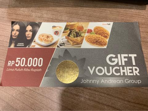 Gift Voucher Johnny Andrean Only
