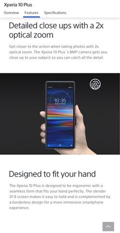 [GPL] Sony Xperia 10 Plus dual LTE 6/64Gb Navy Blue 1st wide display