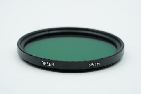 Green Filter 55mm Color Lens Filter 55 mm Camera Filters - Filter Hijau