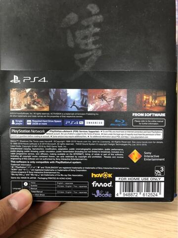 BD PS4 Sekiro shadow die twice