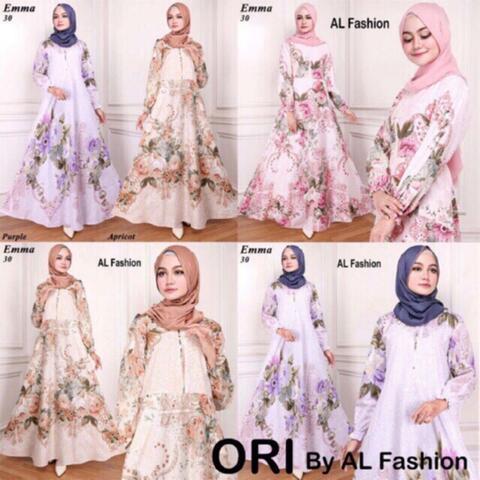 Gamis Maxi long dress EMMA busana muslim wanita