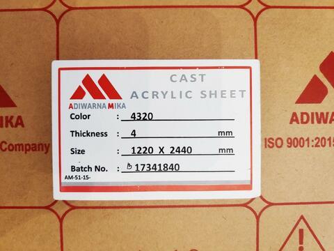 Acrylic Susu 4mm 122x244cm Tangerang Joeragan Mika Akrilik