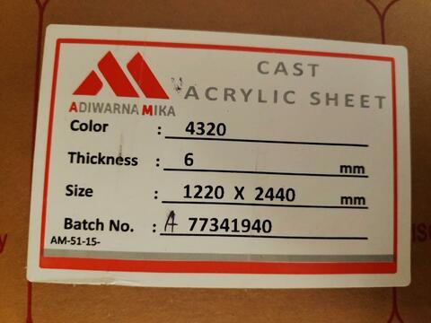 Mika Lembar Susu 6mm 122x244 Gading Serpong Tangerang