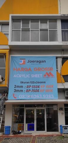 Toko acrylic lembaran Tangerang uk triplek 122x244 6mm Doff / Putih Solid