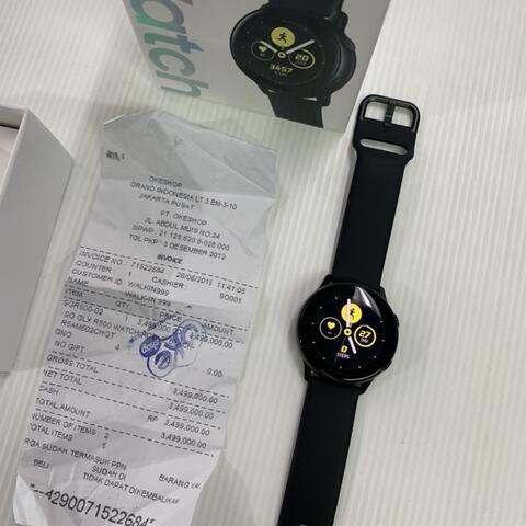 Samsung Galaxy Watch Active 38mm Black baru pakai 1 Hari Garansi SEIN
