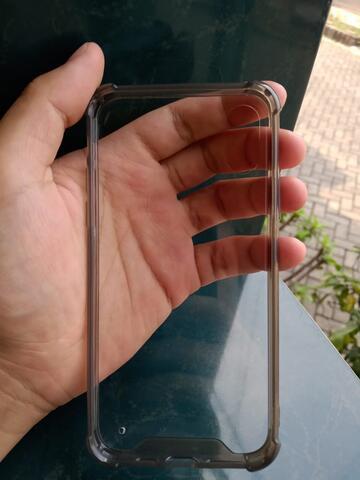 Anti krack Case Iphone XS - Clear Black Smoke
