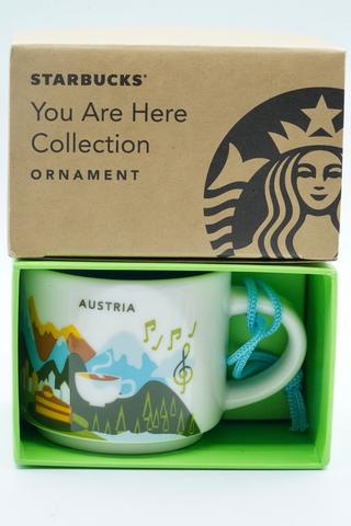 Starbucks Mug Mugs You Are Here Ornament Austria Hungary Italy Slovakia 2 oz 59 ml