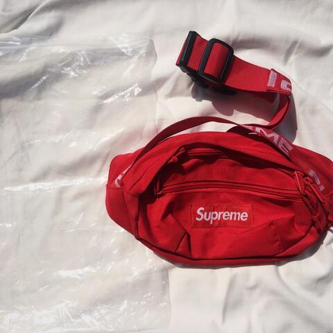 Tas Supreme Merah Waist Bag Supreme Red SS18
