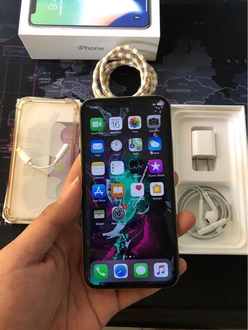 iphone x 64gb silver no minus