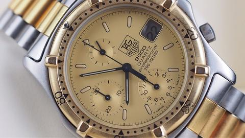 TAG HEUER 2000 PROFESSIONAL CHRONOGRAPH QUARTZ TWO TONE 39MM
