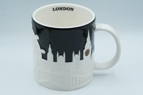 Starbucks Mug Mugs Gelas London Relief Black and White 16 oz 473 ml