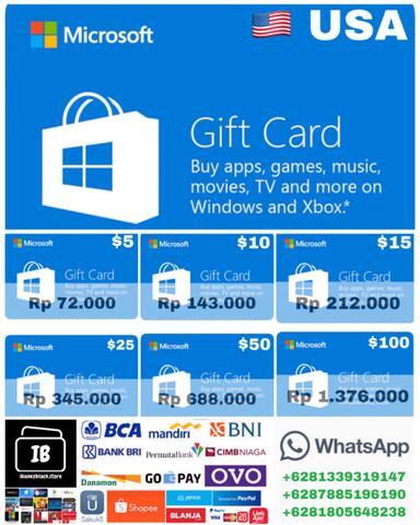 Microsoft Windows Store Gift Card US $5 $10 $15 $25 $50 $100 - ibanezblack.store