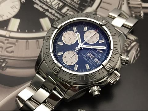 ORIGINAL BREITLING SUPEROCEAN AUTOMATIC CHRONOGRAPH DAYDATE 42MM