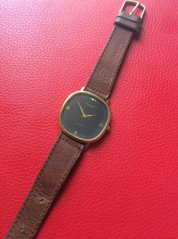 FAVRE LEUBA Geneve Black Dial 18K Goldplated Watch ORIGINAL Swiss Made