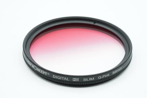 K&F Concept - Graduated 58mm Round Full Color Gel Filter 58 mm Digital HD