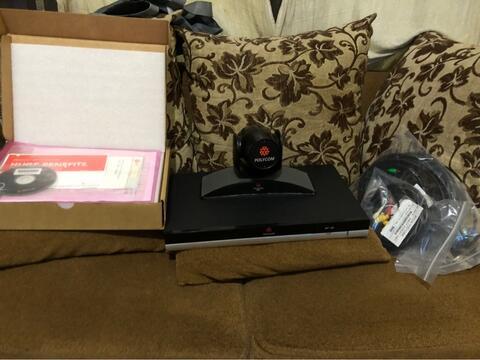 sale polycom QDX 6000 video conference fullset kamera mic kabel murah gan