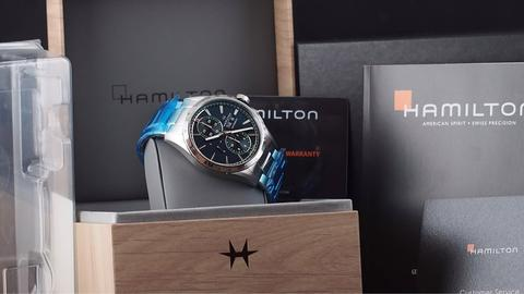 HAMILTON BROADWAY AUTOMATIC CHRONOGRAPH DAY DATE BLUE 43MM 2019