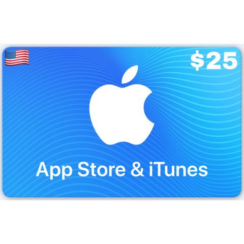 Apple App Store & iTunes Gift Card US $5 $10 $15 $20 $25 $30 $40 $50 $100 $200