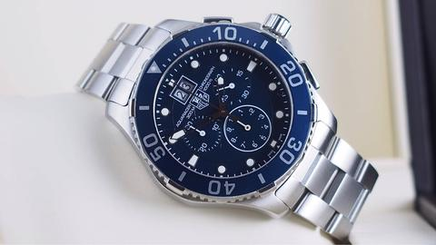 TAG HEUER AQUARACER CHRONOGRAPH QUARTZ BLUE DIAL 43MM