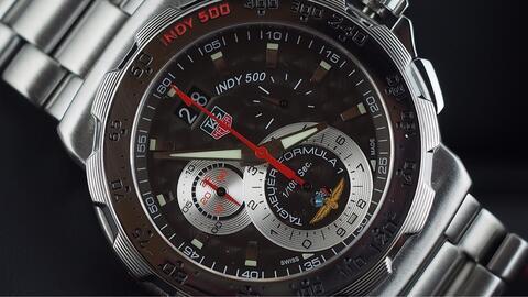 TAG HEUER FORMULA 1 INDY 500 CHRONOGRAPH QUARTZ GREY DIAL 44MM