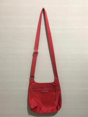 Longchamp Le Pliage Neo Nylon Crossbody Bag (Red)