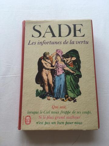 """Buku Marquis de Sade """"Justine"""" dalam Bahasa Perancis"""