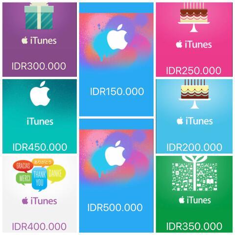 Itunes Gift Card Indonesia Murah, Aman dan Terpercaya
