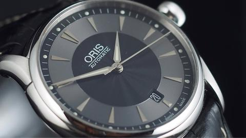 ORIS ARTELIER DATE AUTOMATIC BLACK GREY DIAL 40MM