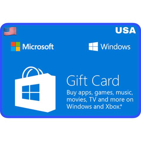 Microsoft Windows Store Gift Card US $5 $10 $15 $25 $50 $100 - ibanezblack.store