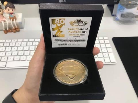Superman 80th Anniversary Collectors Coin