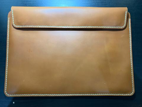Leather Sleeve Genuine for MacBook 13 inch and iPad - Brown Tan