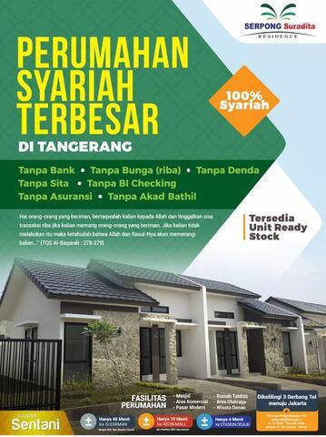 Rumah Syariah Serpong Ready Unit Tanpa Bank tanpa RIBA