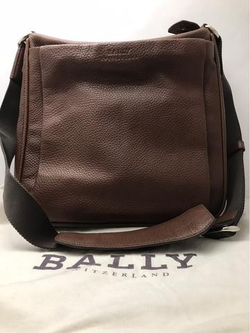 ORIGINAL LIKE NEW BALLY MISTON MD BROWN CALF LEATHER MEN'S SHOULDER BAG