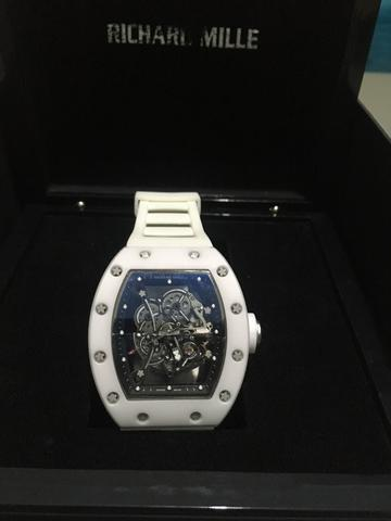 KW AAA Richard Mille RM055 White Ceramic Case Watch