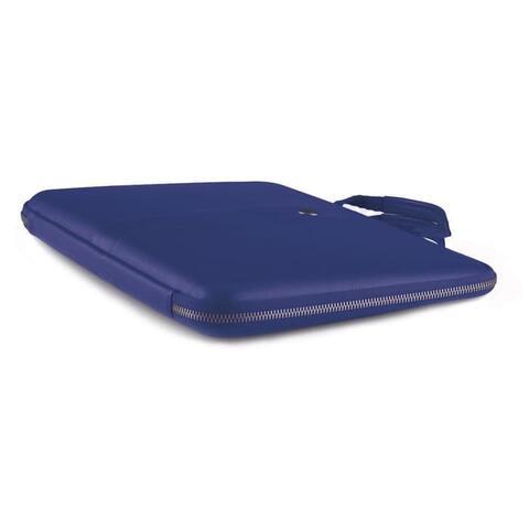 "COZI Smart Sleeve Aniline Leather for Macbook Pro 13"" 2017 -Blue De"