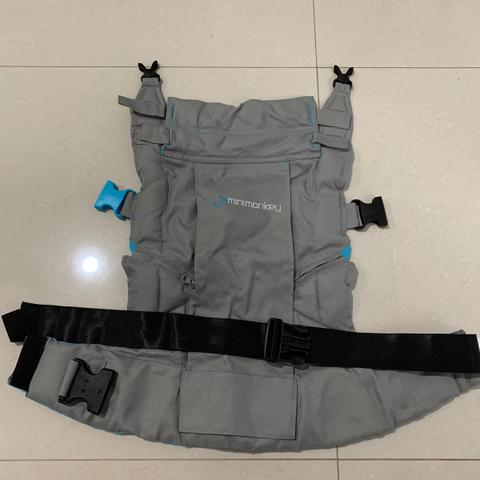 Minimonkey Baby Carrier Gendongan Bayi Grey Turqouise LIKE NEW