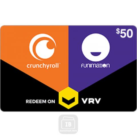 Crunchyroll US Gift Card on VRV $10 $25 $50