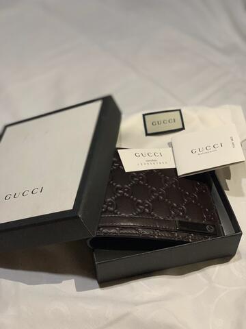Dompet Kulit Pria Gucci Men Leather Wallet 100% Original New Baru Branded Asli