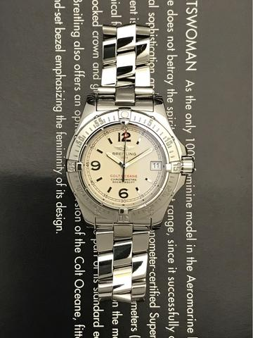 ORIGINAL BREITLING LADIES COLT OCEANE QUARTZ 34MM