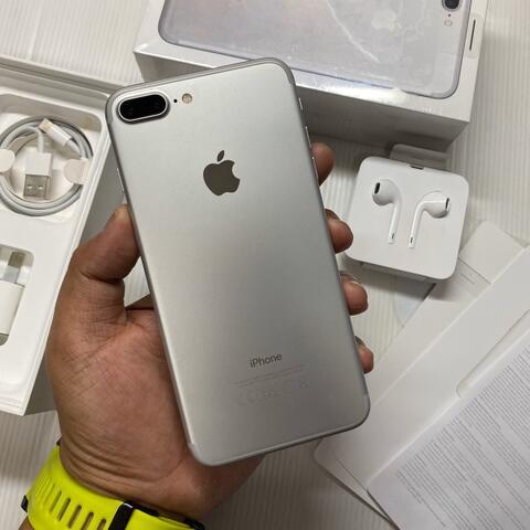 iPhone 7 Plus 128GB Silver Good Condition Mulus fullset ex inter