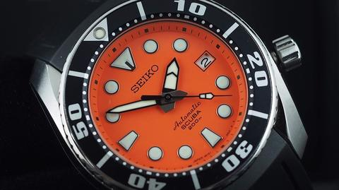 SEIKO SUMO DIVER AUTOMATIC ORANGE DIAL SBDC005 STEEL 45MM