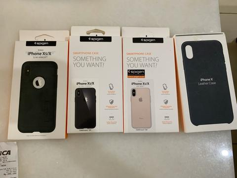 Original Leather Case iPhone X Black beli 1 dapat 4