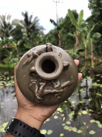 Cupu Kuno Ukir Cicak Dinasti Ming