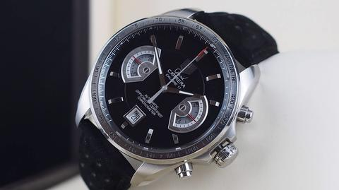 TAG HEUER GRAND CARRERA CHRONOGRAPH AUTOMATIC CALIBRE 17 BLACK DIAL 44MM