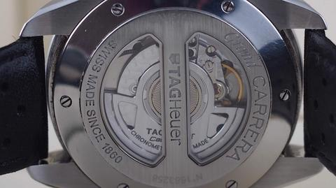 TAG HEUER GRAND CARRERA CHRONOGRAPH AUTOMATIC CALIBRE 17 BLACK DIAL 44MM