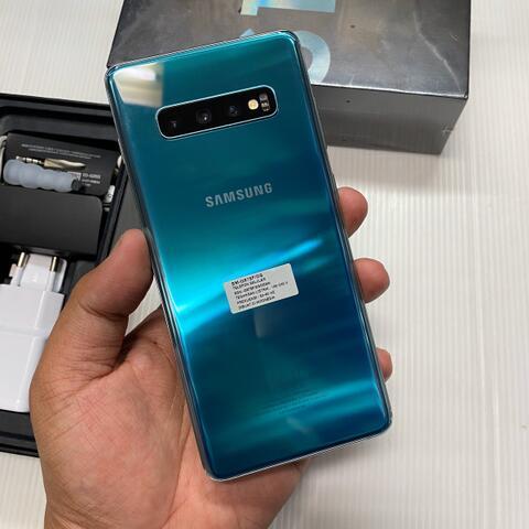 Samsung S10 Plus 128GB Prism Green Good Condition Garansi resmi SEIN