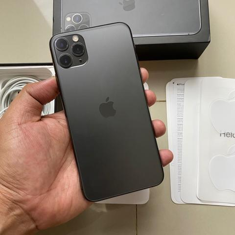 iPhone 11 Pro Max 64GB Single Space Gray Super Mulus Fullset Original BH 100%