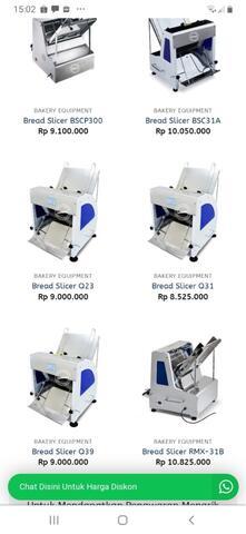proofer 12 tray dan bread slicer 1 set preloved / bekas / second murah