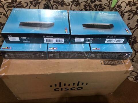 switch hub cisco small business SF 100D-08 8port baru segel plastik